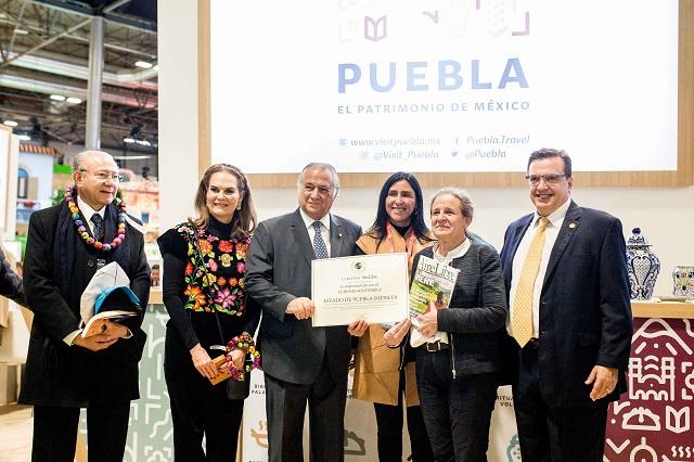 En Madrid, recibe Puebla premios por marca turística y gastronomía
