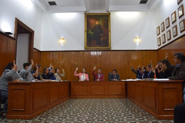 Aprueba Cabildo de San Pedro Cholula rotación en comisiones
