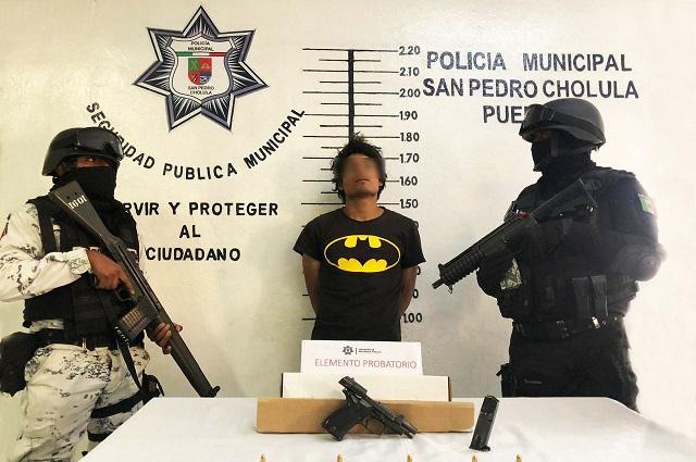 Capturan a presunto asaltante en San Pedro Cholula