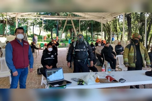 PC de San Andrés capacita a guardias de fraccionamientos para el manejo del fuego