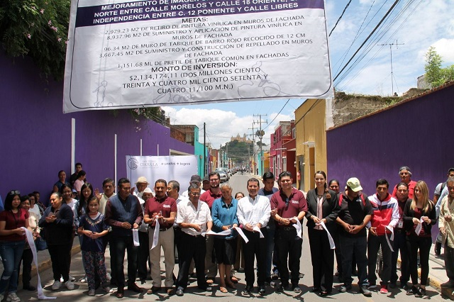 Entregan obras de mejoramiento urbano en San Pedro Cholula