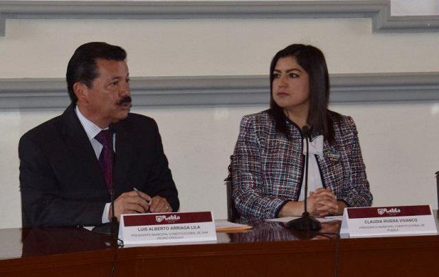 Firma San Pedro Cholula convenio de colaboración de la zona metropolitana