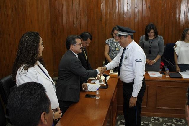 Gratifican a elementos de Seguridad Ciudadana en San Pedro Cholula