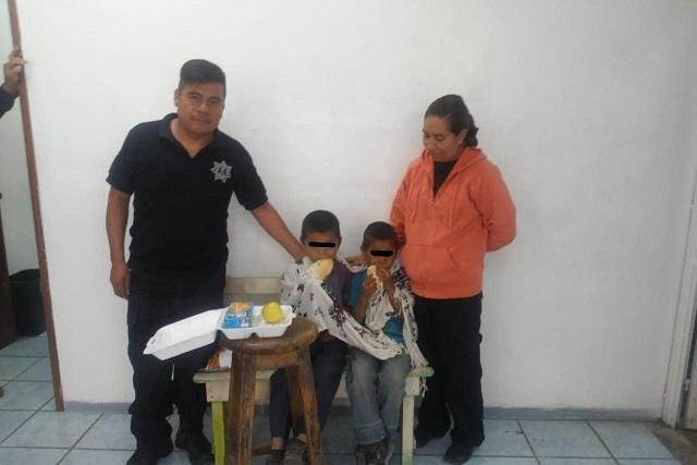 Localiza policía de San Pedro Cholula a menores extraviados