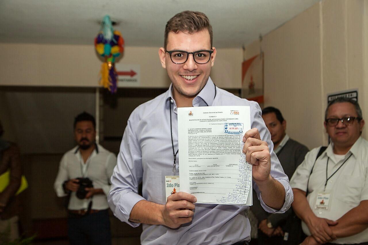 Hijo de Vega Rayet va por diputación local independiente