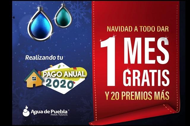 "Agua de Puebla amplía promoción ""Un mes gratis de agua"""