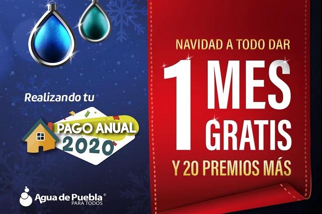 Vence el 31 de diciembre pago anual anticipado de agua
