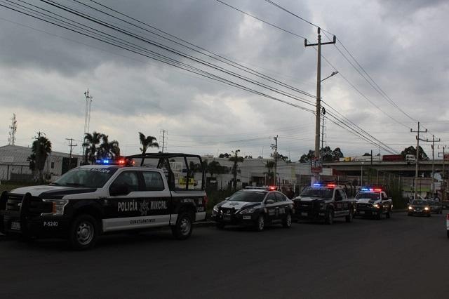 Realizan operativos en juntas auxiliares de Cuautlancingo
