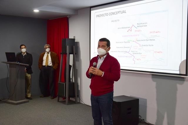 Presentan en San Pedro Cholula Proyecto Ejecutivo para Sistema Integral Pluvial