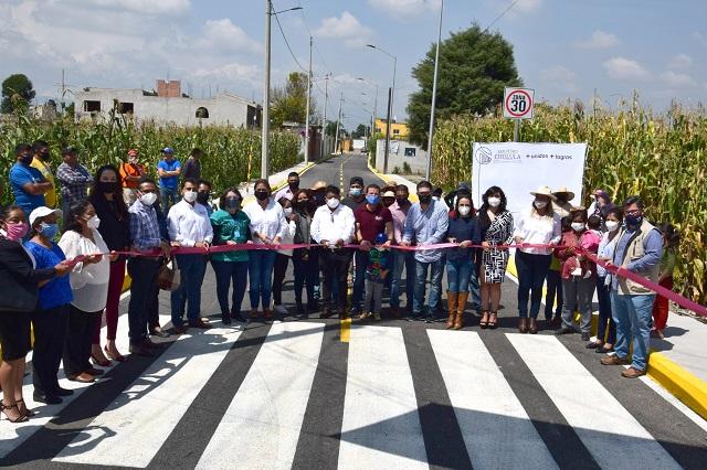 Prioriza gobierno de San Pedro Cholula obras en juntas auxiliares