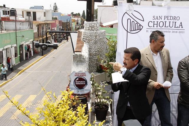 """Refuerza seguridad pública en San Pedro con programa """"Cholula te vigila"""""""