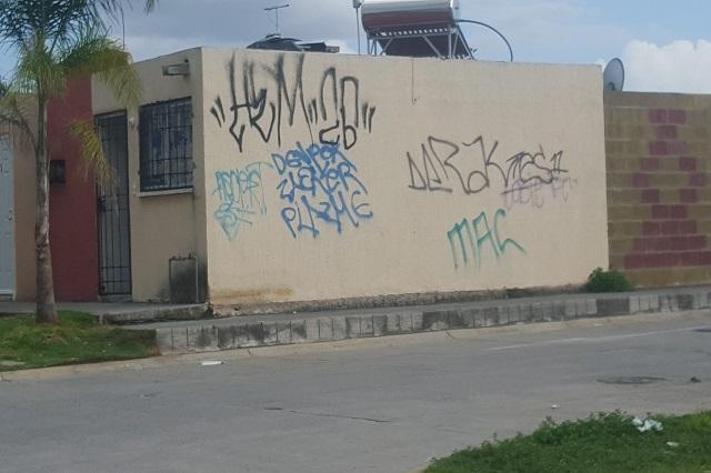 Grafiteros e inseguridad asolan a vecinos de Misiones de San Francisco
