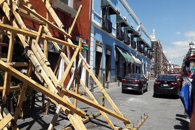 Tras susto del sismo, calles del Centro hoy son estacionamiento
