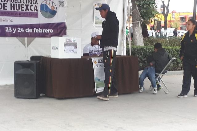 Con protestas y pocos votos cierra consulta por gasoducto en Puebla