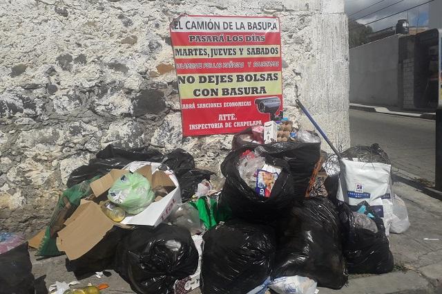 En Atlixco continua el problema con la recolección de residuos