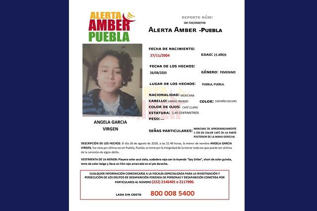 Activan Alerta Amber en Puebla por Ángela García