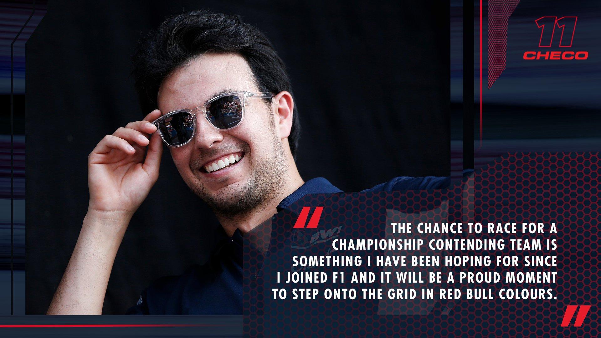 Es oficial: Checo Pérez es nuevo piloto de Red Bull en Fórmula 1