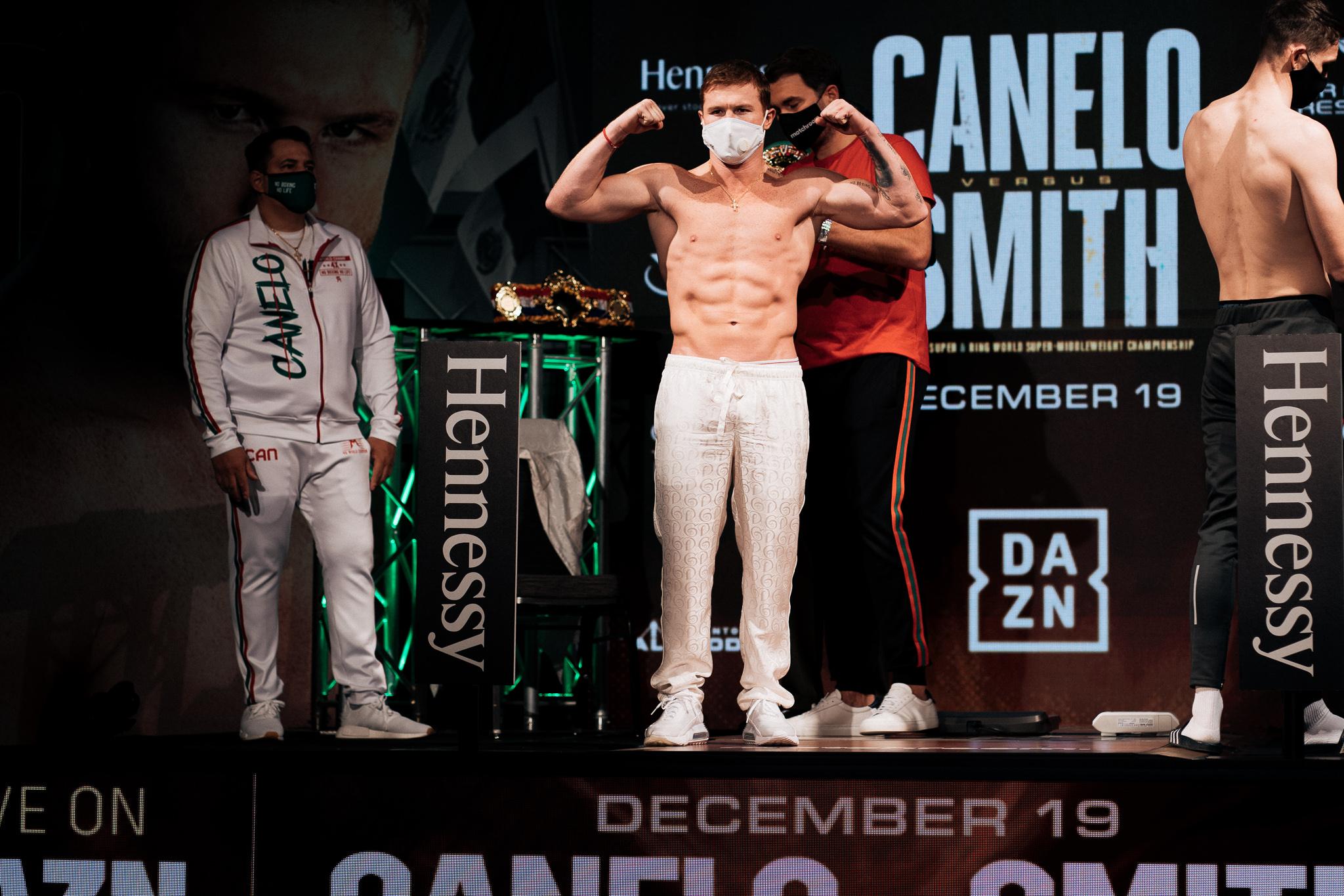 Báscula vencida y todo listo para pelea entre Canelo y Smith