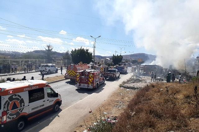 Se incendia recicladora de basura en la 11 Sur