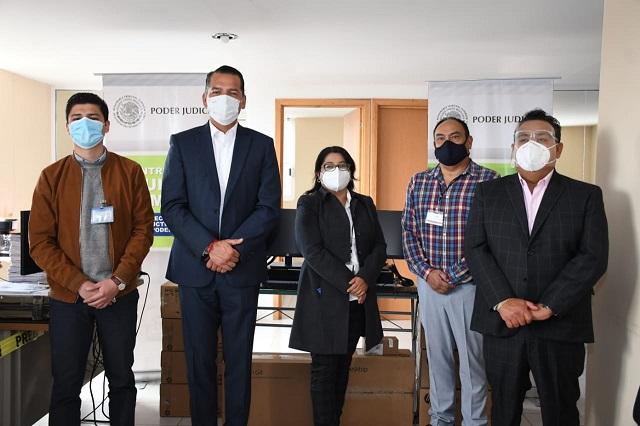 Renuevan equipamiento en Juzgados de Zacatlán y Chignahuapan