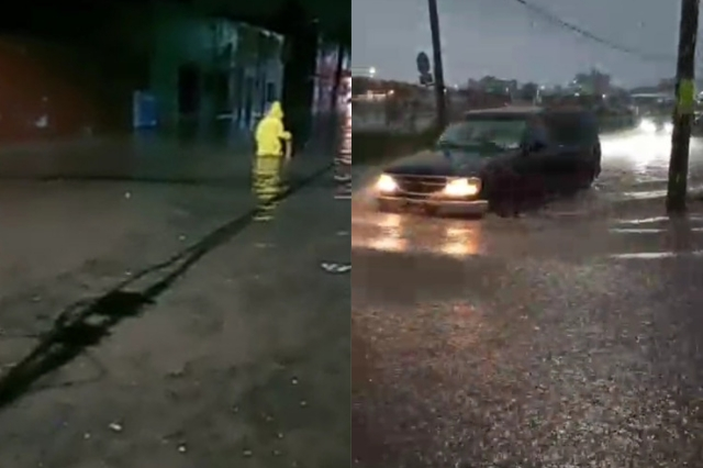 Aguacero del sábado deja inundado San Pedro Cholula