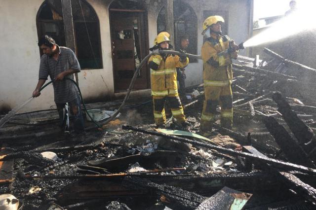Incendio consume vivienda en Tenango de las Flores