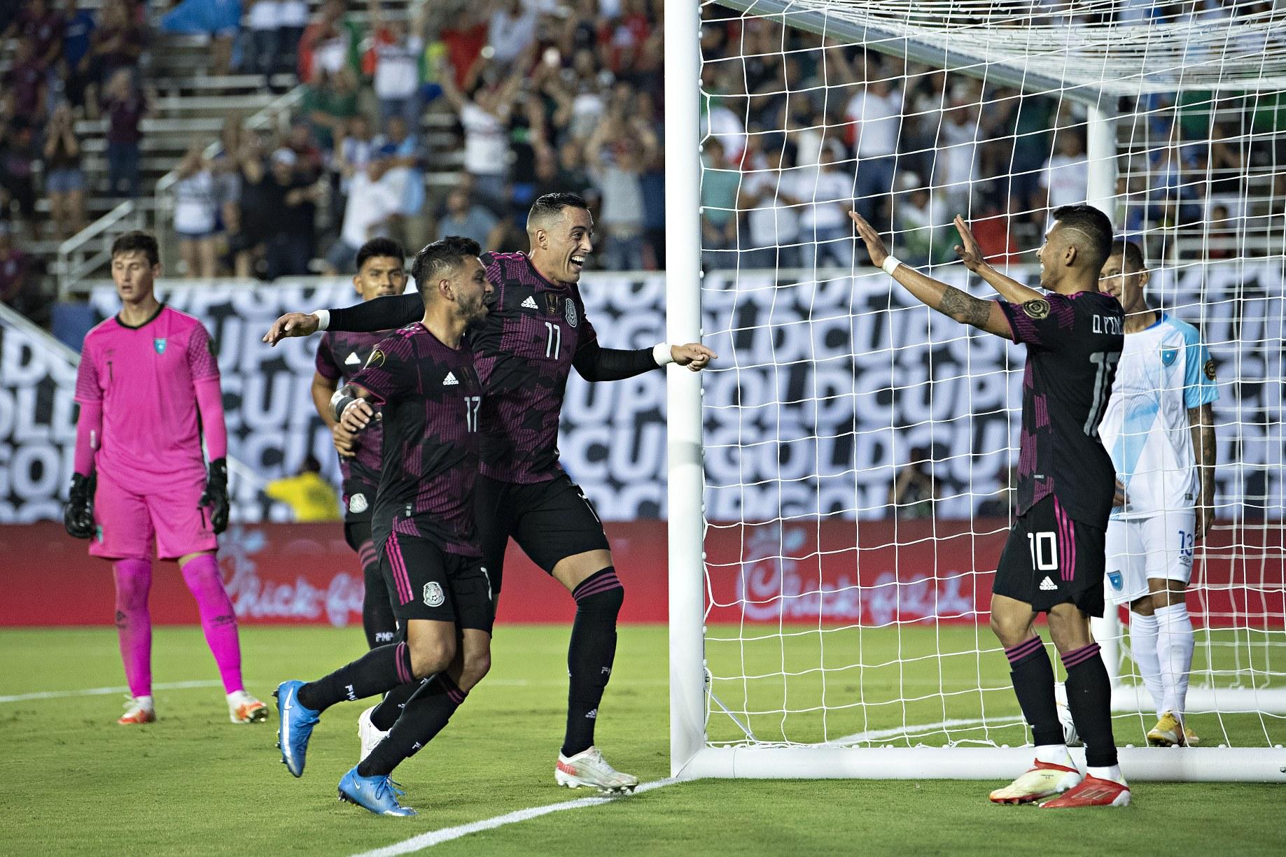 Copa Oro: despierta el Tri con goleada de 3-0 sobre Guatemala