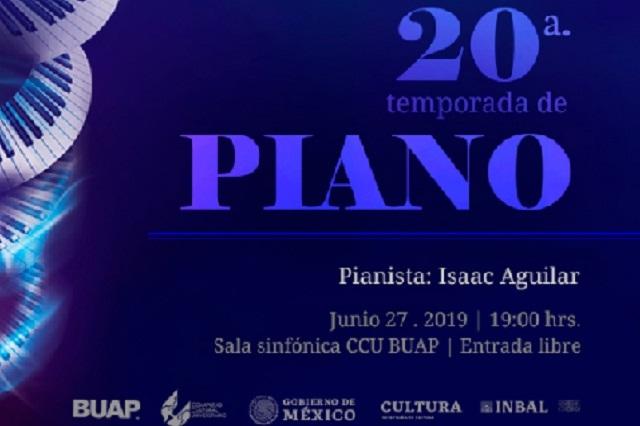 20a Temporada de Piano: Isaac Aguilar, Sala  Sinfónica CCU BUAP