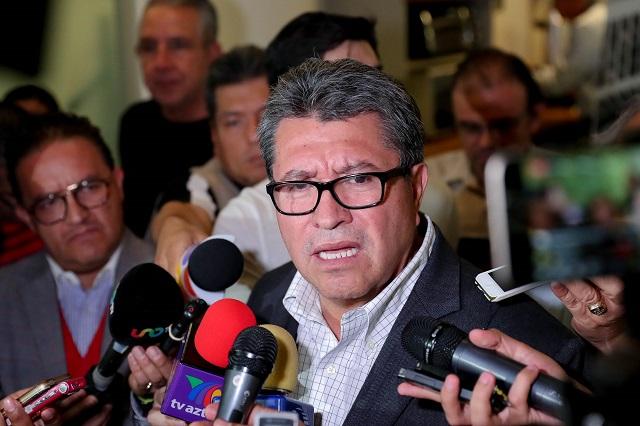 Prevé Monreal que habrá castigo por fraude electoral en Puebla