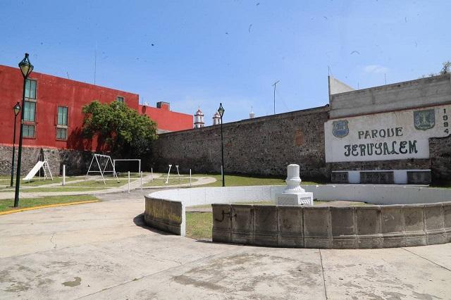 Rehabilitan 9 oriente y Parque Jerusalem en Puebla capital