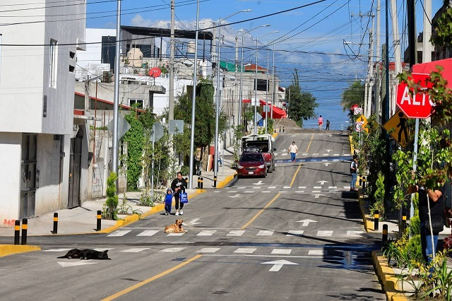 Ayuntamiento de Puebla inaugura tres calles en el sur de la ciudad