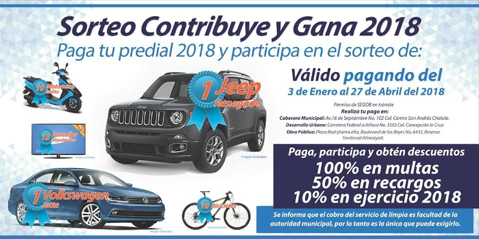 San Andrés Cholula invita a pagar el impuesto Predial 2018