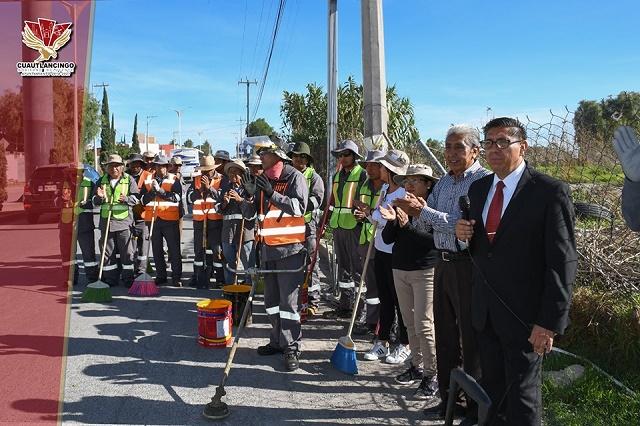 Ayuntamiento de Cuautlancingo realiza   jornadas de limpieza permanente
