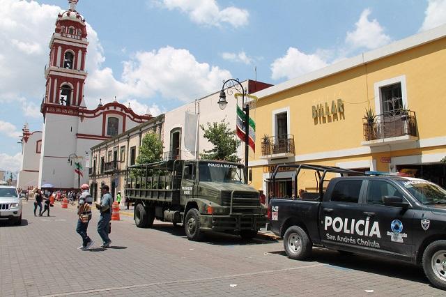 Registra San Pedro Cholula avances seguridad pública: Arriaga Lila