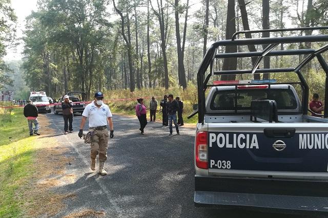 Dejan a bebé junto a cuerpos de pareja en límites de Puebla y Tlaxcala
