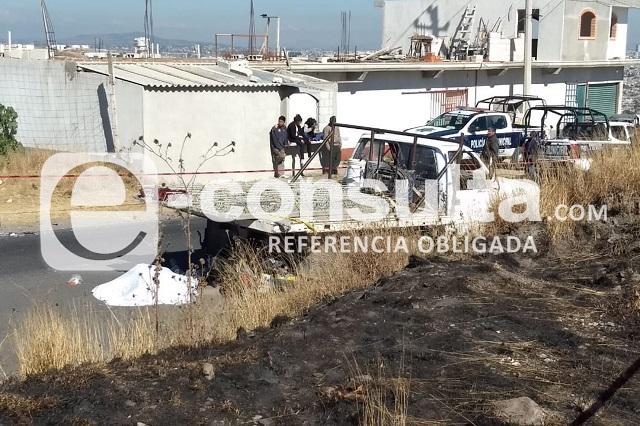 Motociclista muere al chocar contra camioneta en Ocoyucan