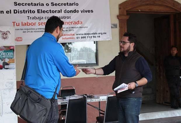 IEE capacitará a independientes para recolección de firmas