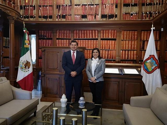 Acuerdan Rivera y Armenta labor conjunta Ayuntamiento- Senado