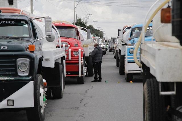 Puebla sufrirá bloqueos por caravana trasportista este martes