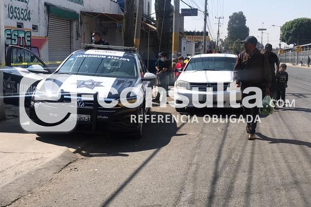 Muere indigente cerca del Mercado Hidalgo en Puebla