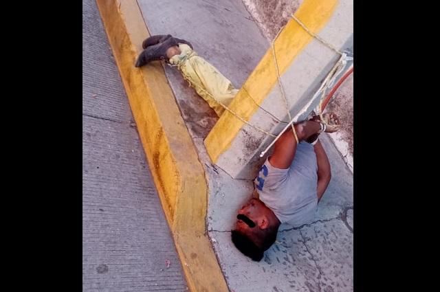 Vecinos aporrean a ladrón en la colonia Vicente Guerrero