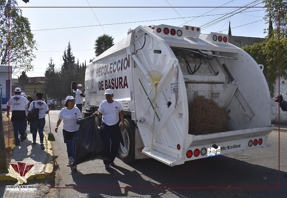 Realizan jornada de limpieza en Cuautlancingo