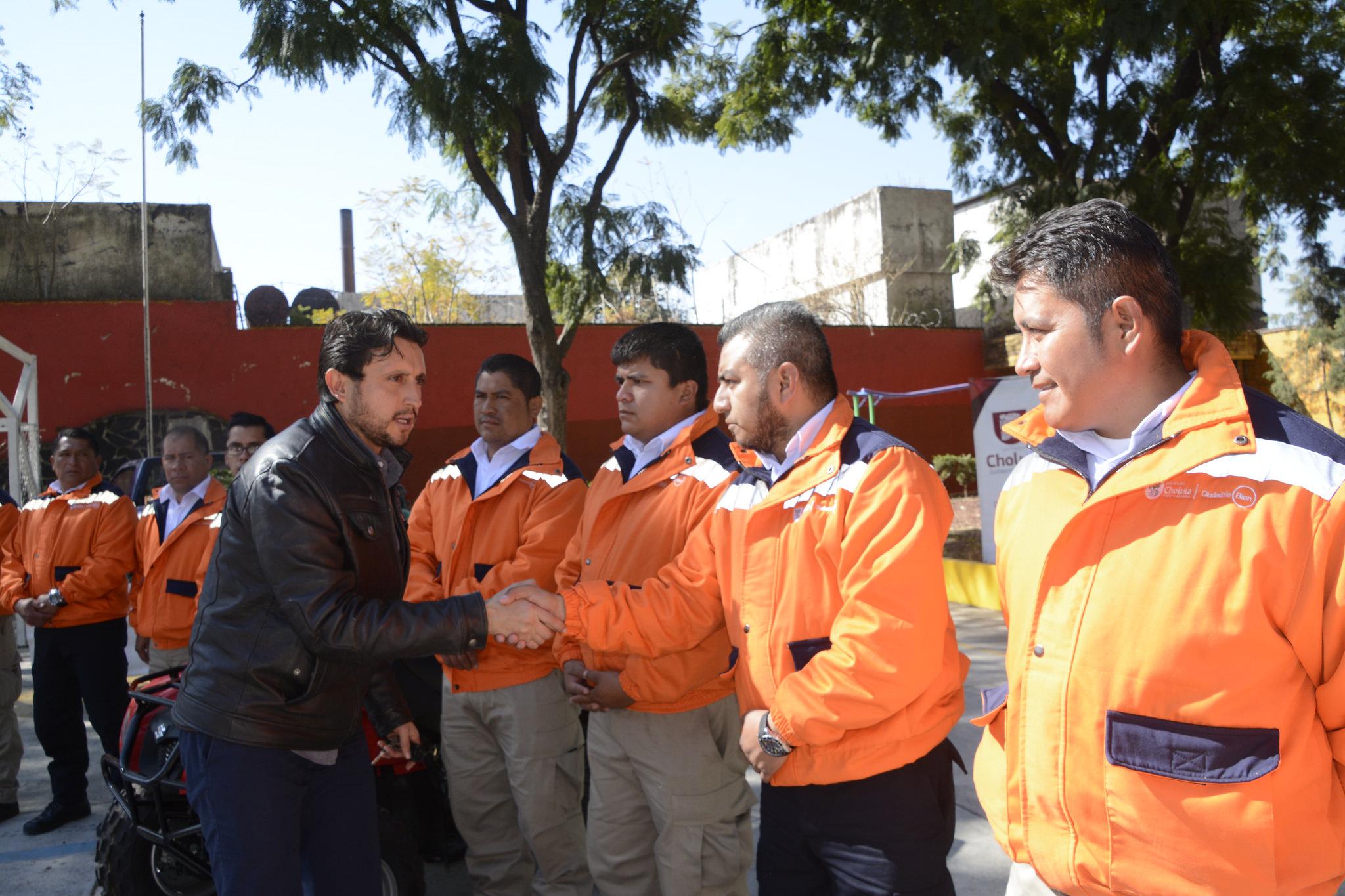 Recibe protección civil de San Pedro Cholula reconocimiento