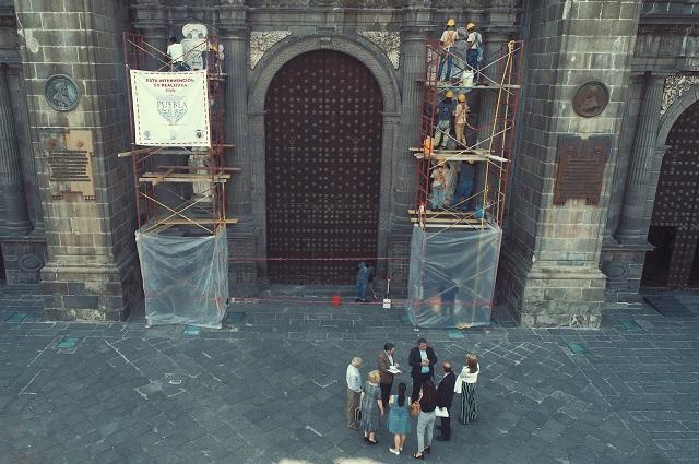 Protegen edificios del centro histórico de la ciudad de Puebla