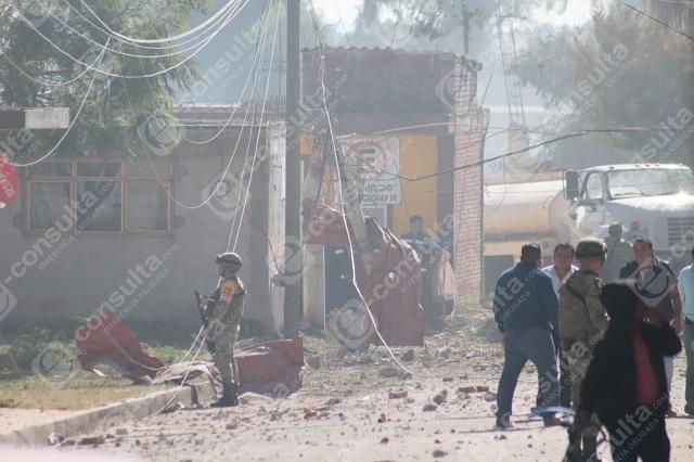 Explosión de pirotecnia en Tepeaca deja dos heridos