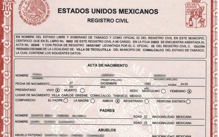 Saca copia certificada de tu acta de nacimiento sin salir de casa ...