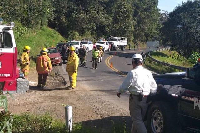 Fuga de combustible obligó a evacuar casas en Huauchinango