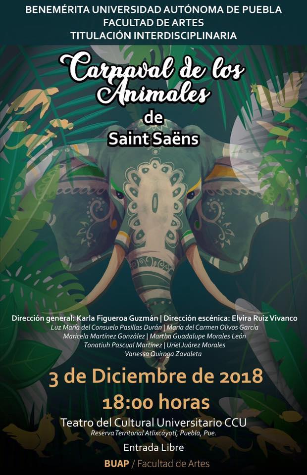 Estrenan el Carnaval de los animales, cuento  musicalizado, en CCU- BUAP