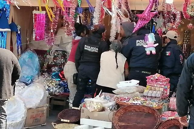 Decomisan 30 kilos de pirotecnia en mercado de El Seco