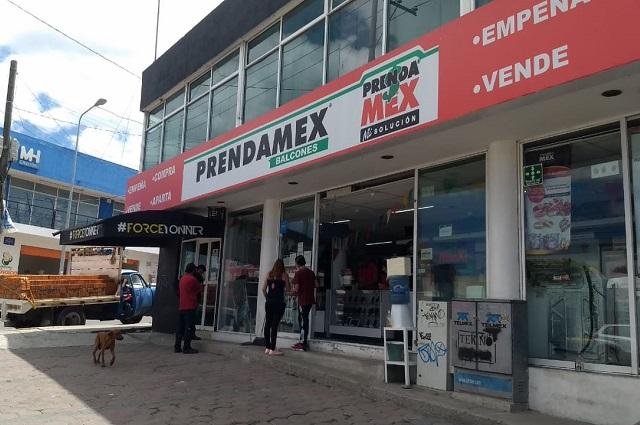 Tras asalto frustrado, vandalizan Prendamex
